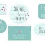 Sticker zum Verzieren von Briefen