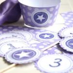Partydeko: Cupcake Wrapper und -Topper