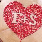 Liebeserklärung auf Holz