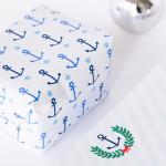Maritimes Geschenkpapier