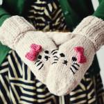 Süße Kitty-Handschuhe