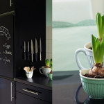 Kühlschrank als Tafel