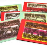 Fotokamera im Linoldruck