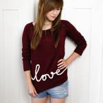 """T-Shirt mit """"love""""-Schriftzug"""