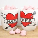 Handbemalte Tassen für Mama & Papa