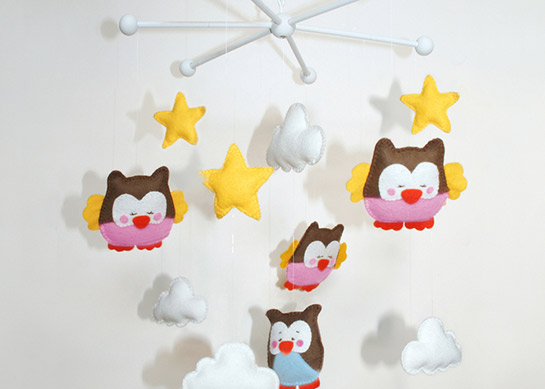 Baby Mobile Eulen Diy Love
