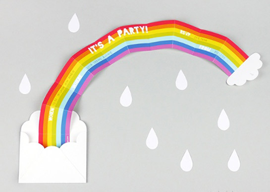 Geburtstags-Einladung mit Regenbogen   DIY LOVE