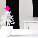 Silberner Weihnachtsbaum