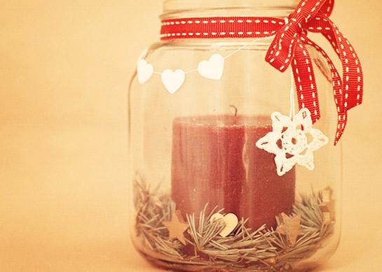 Basteln weihnachtslichter weihnachten  Weihnachtslicht / Adventskerze | DIY LOVE
