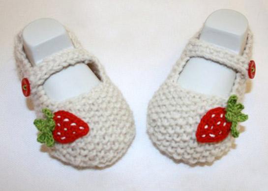 Ballerina Babyschuhe Mit Erdbeeren Diy Love
