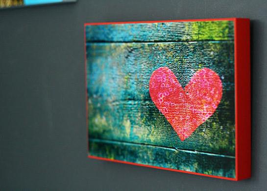 foto auf holzplatte aufziehen diy love. Black Bedroom Furniture Sets. Home Design Ideas