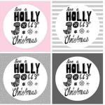 """Geschenkanhänger """"Holly Jolly Christmas"""" (Printable)"""