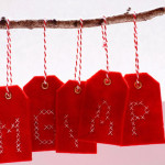 Geschenkanhänger aus Filz