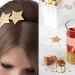 Silvester-Haarreifen mit Sternen