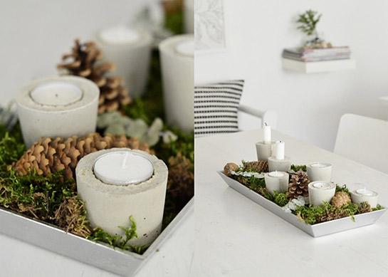 kerzenhalter aus beton | diy love, Gartenarbeit ideen