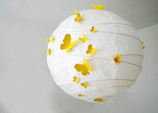 Lampe Mit Schmetterlingen Diy Love