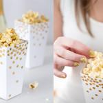 Goldene Popcorn-Schachtel