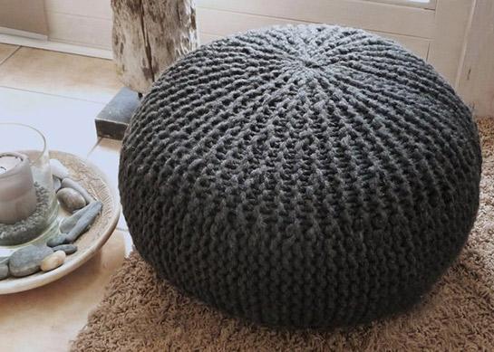 rundes kissen stricken my blog. Black Bedroom Furniture Sets. Home Design Ideas
