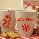 Handbemalte Weihnachts-Tassen