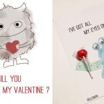 Karten zum Valentinstag (Printable)