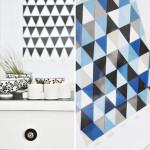 Geometrische Bilder aus Farbstreifen