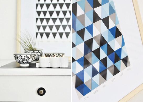 Geometrische bilder aus farbstreifen diy love - Geometrische wandbilder ...