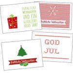 Weihnachtskarten zum Ausdrucken (Printable)
