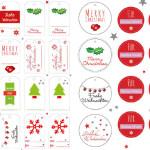 Weihnachts-Geschenkanhänger (Printable)