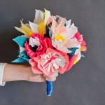 Papier-Blumenstrauß