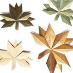 Herbstkranz aus Papierblättern