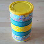 Chipsdose mit Washi Tape