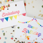 Happy Birthday: Einladung- und Glückwunschkarte