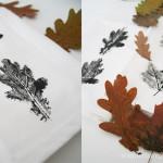Servietten bedruckt mit Blättern