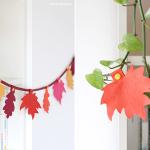 Herbst-Girlande aus Filz