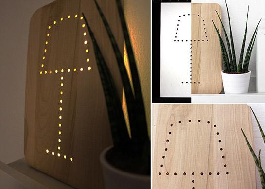 led lampe diy love. Black Bedroom Furniture Sets. Home Design Ideas