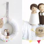 Willkommens-Kranz für die Hochzeitsfeier