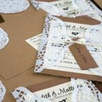 Hochzeitsanzeige aus Spitzenpapier
