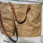 Tasche aus Snappap mit Lederhenkel