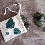 Waschbeutel für Efeu-Blätter